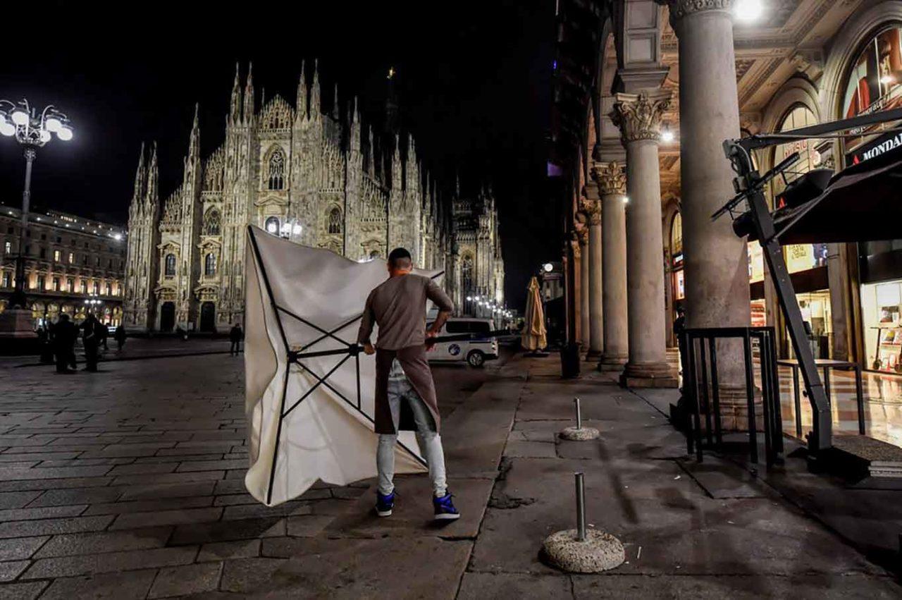 coprifuoco Milano Duomo