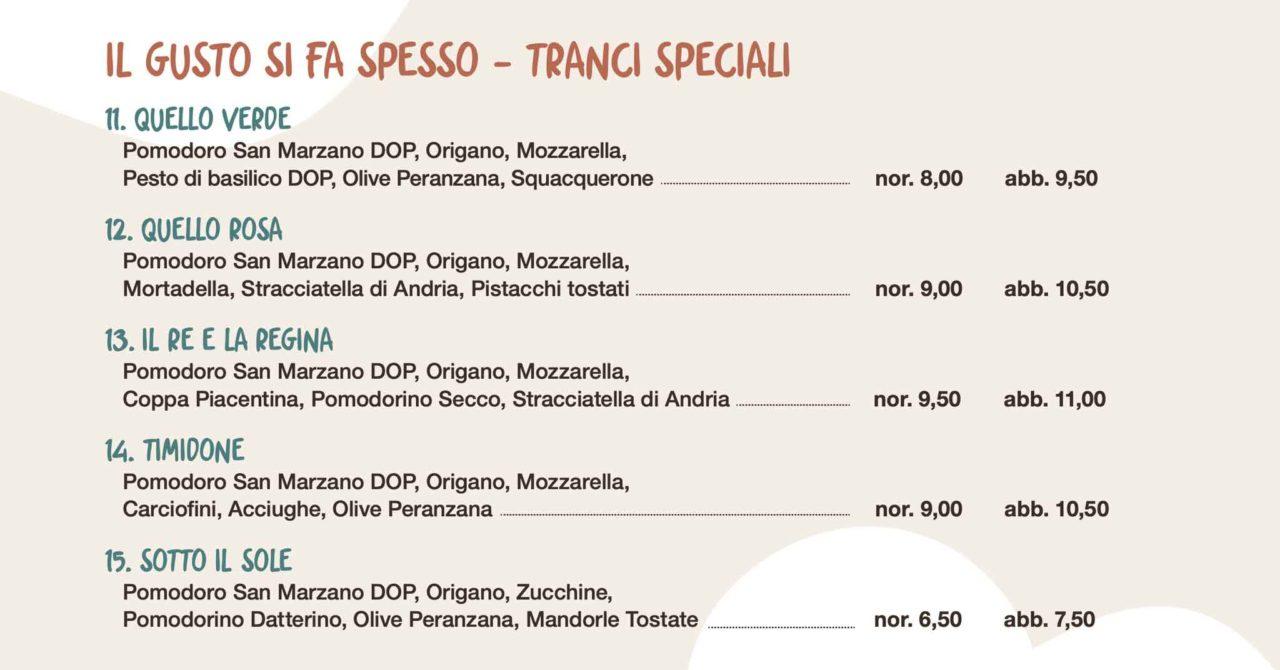filante pizzeria milano menu pizza trancio speciale