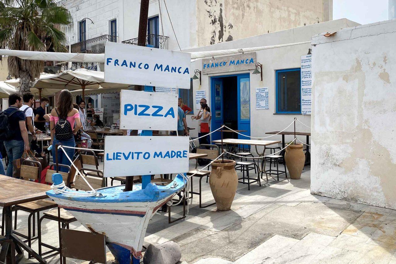 pizzeria Franco Manca isola di Salina