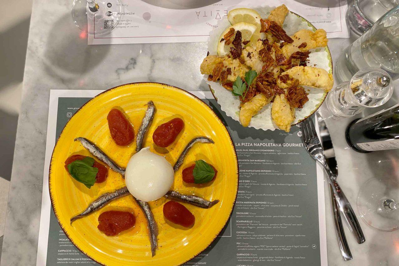 pizzeria Lievità Milano Sempione burrata e alici