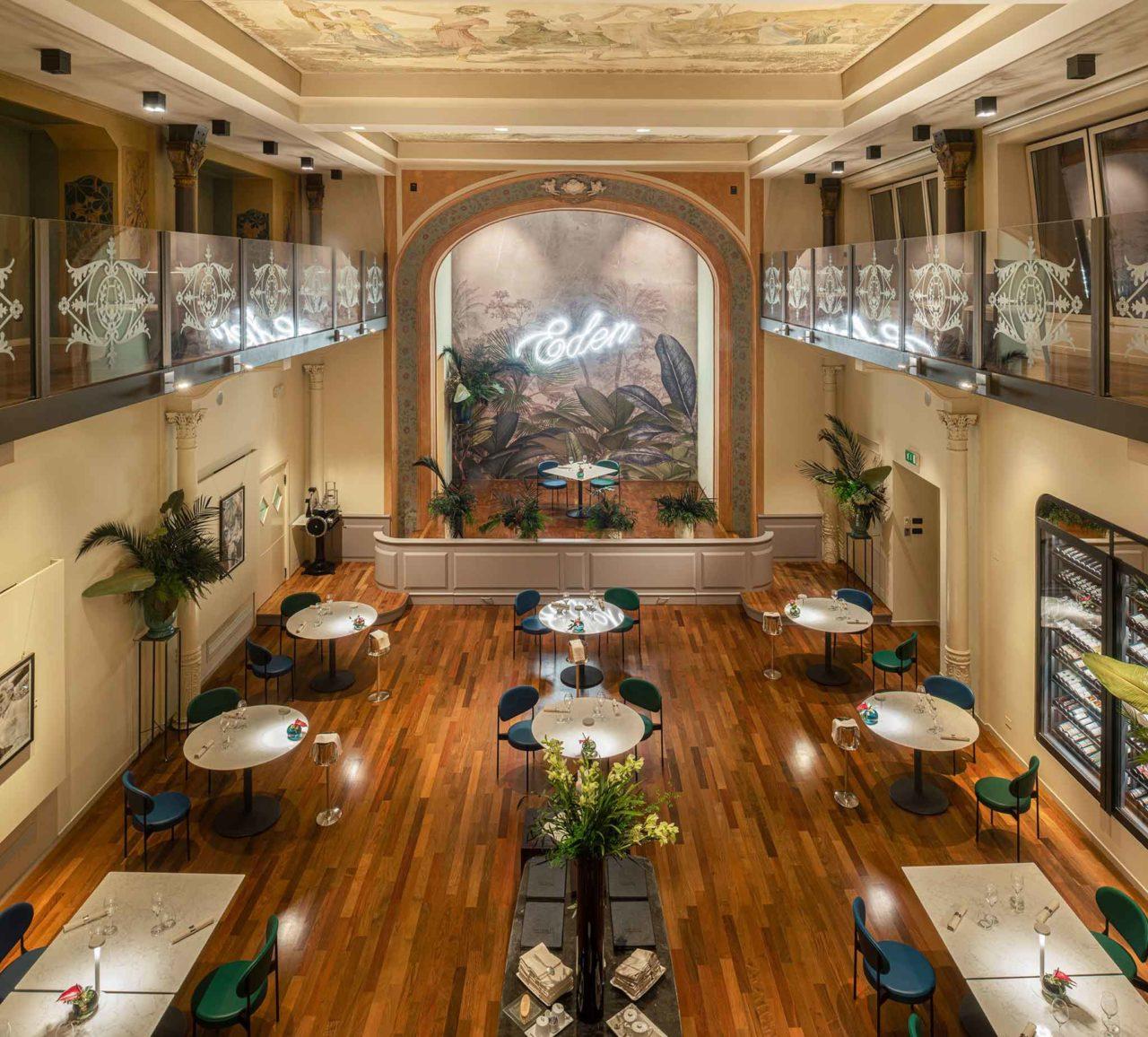 hotel portici bologna ristorante sala eden