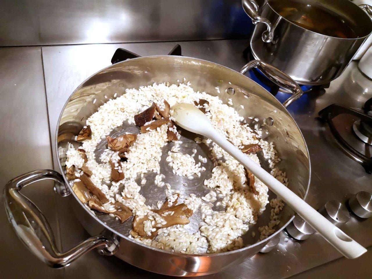 risotto con i funghi secchi