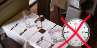 no alla chiusura alle 18 per i ristoranti