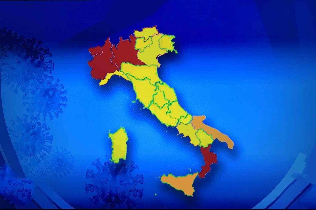 Italia coronavirus zone rossa arancione gialla