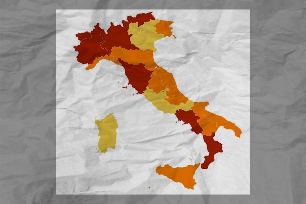Nuove regioni rosse arancioni