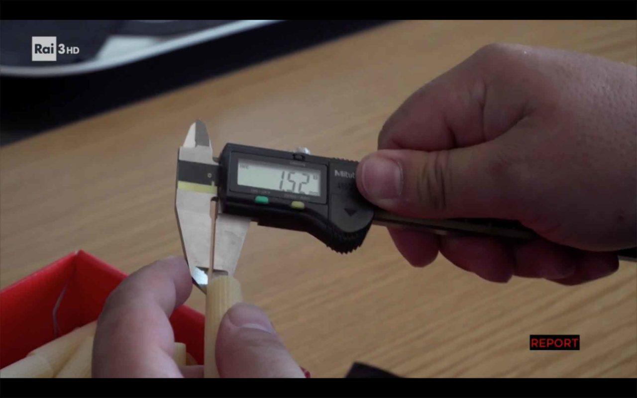 misurazione pasta rigata