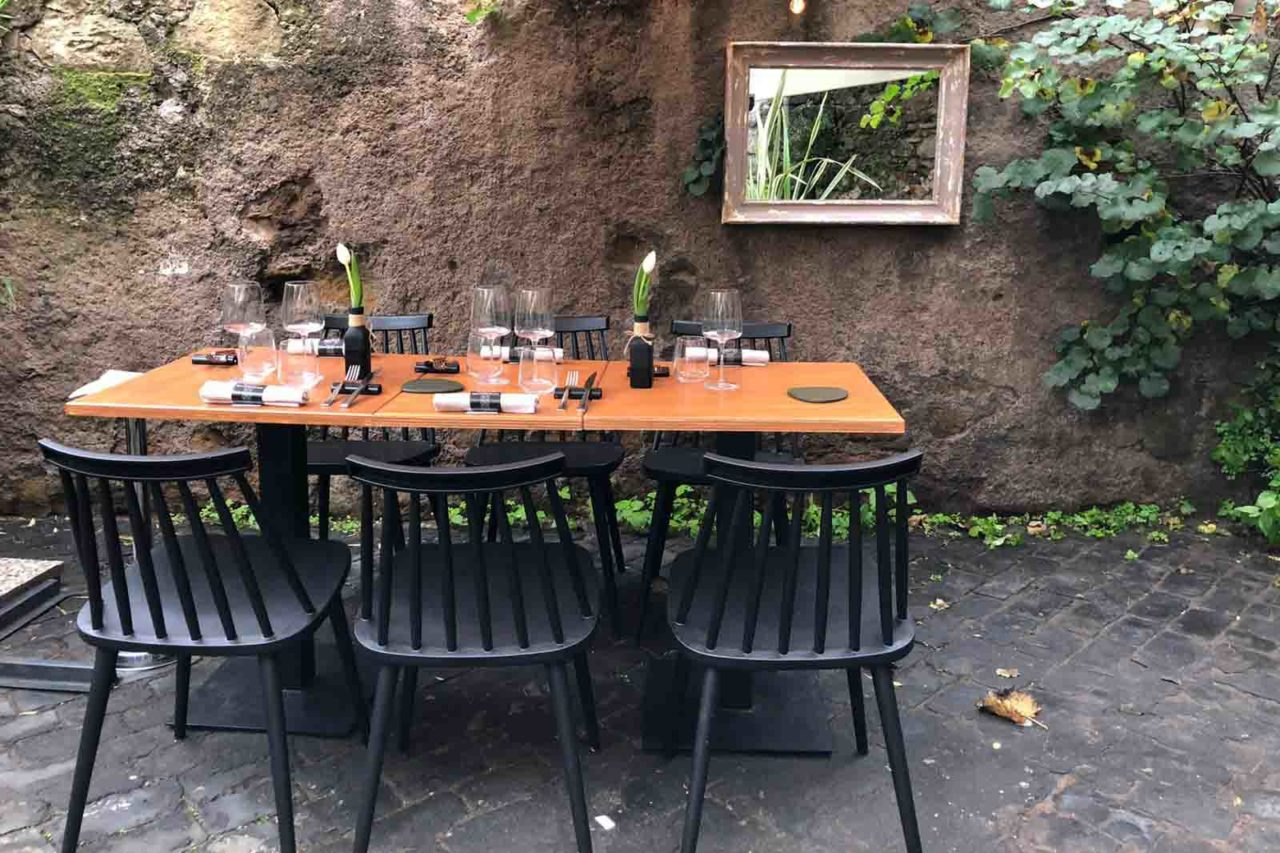 Santo Trastevere ristorante Roma dehors