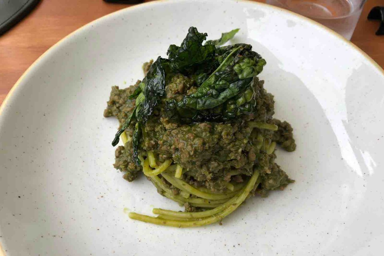 Santo Trastevere ristorante Roma spaghettone al cinghiale