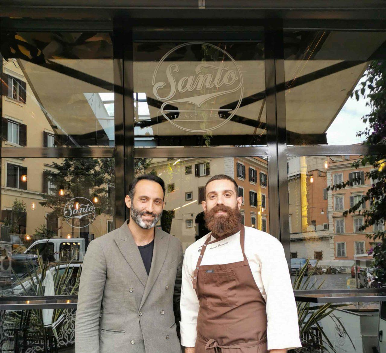 Santo Trastevere ristorante Roma staff