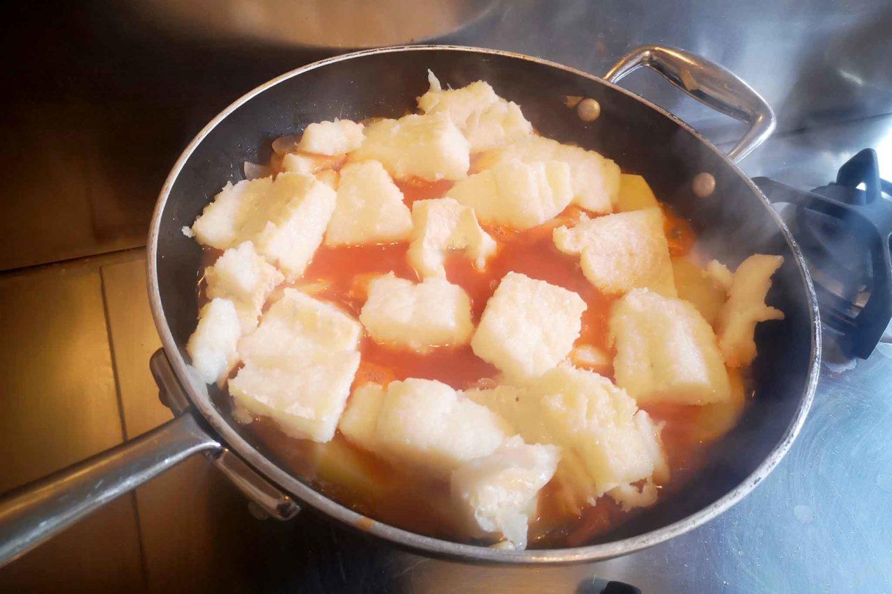 baccalà e pomodoro