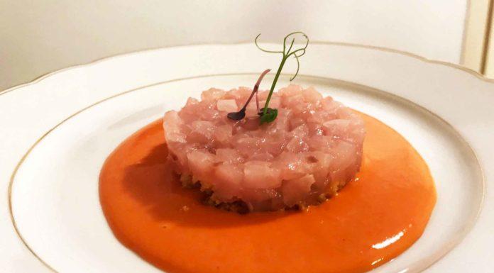 crudo ricciola piatto asporto Sine ristorante Milano