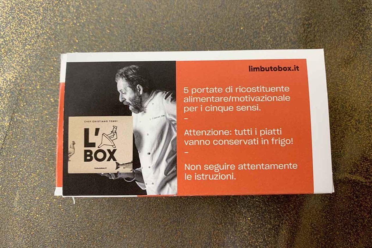 menu a domicilio del ristorante stella Michelin L'Imbuto
