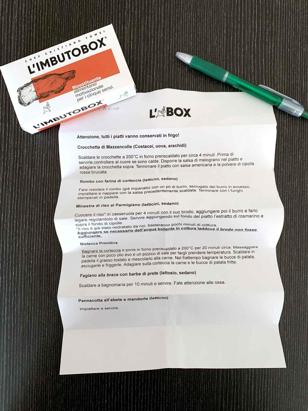 L'imbuto Box a domicilio istruzioni