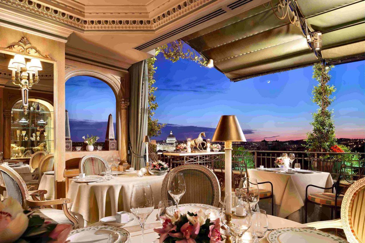 ristorante Mirabelle Roma terrazza natale 2020