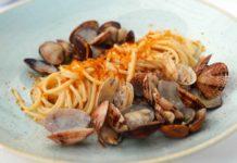 spaghetti vongole e bottarga