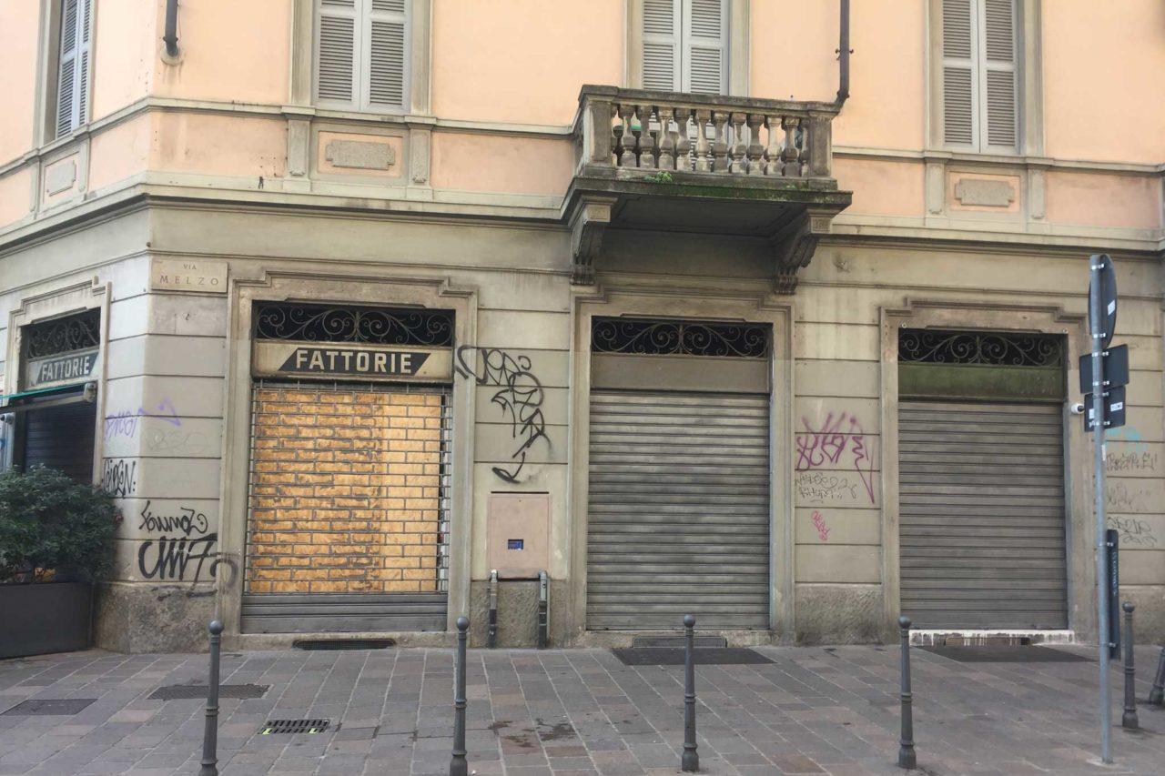 tappo diego rossi via melzo lavori esterno nuove aperture Milano