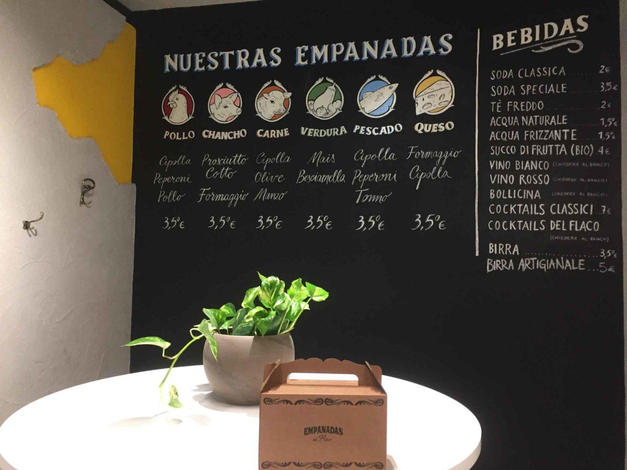 empanadas flaco menu box asporto