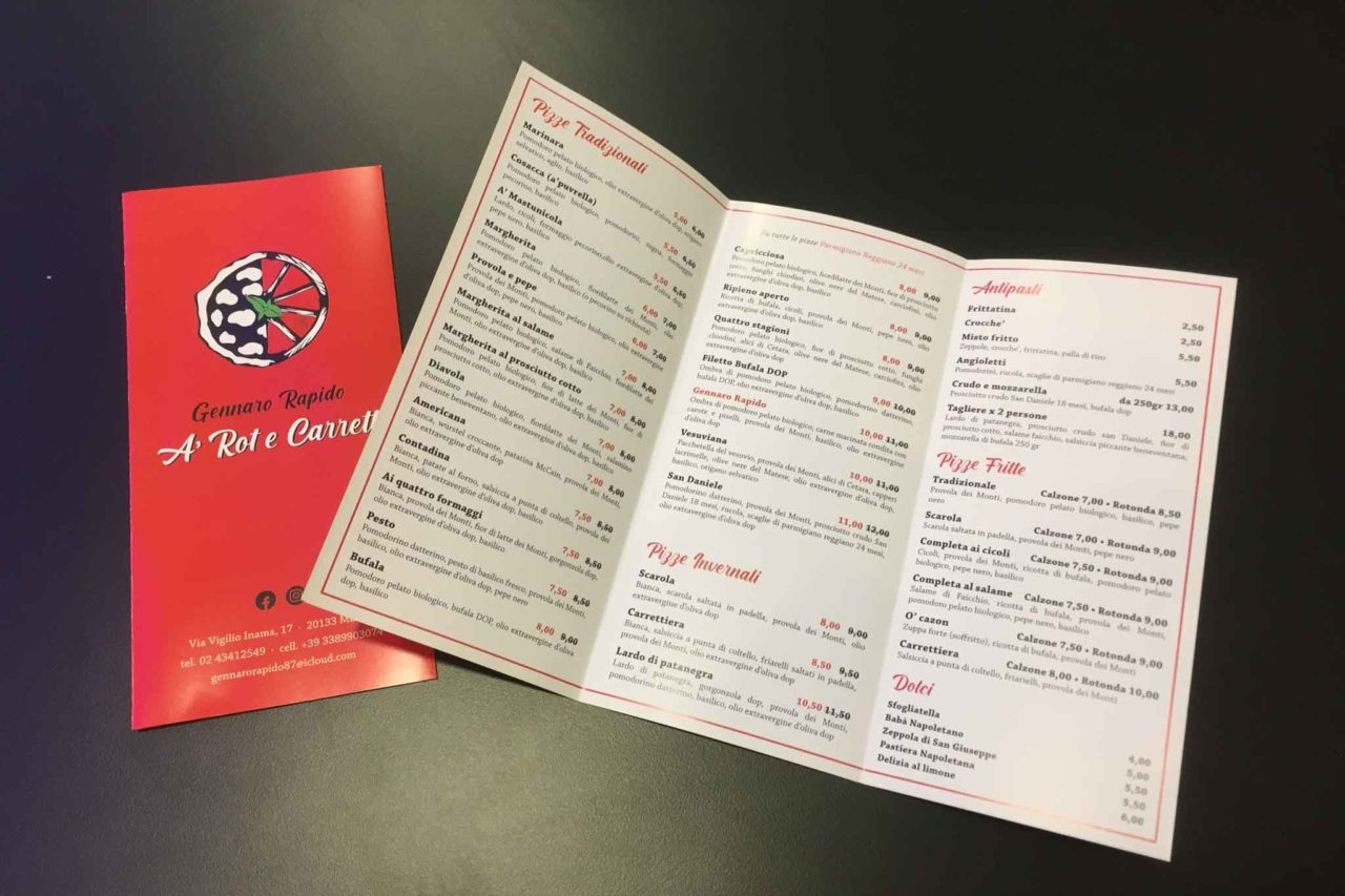 gennaro rapido rot carrett menu