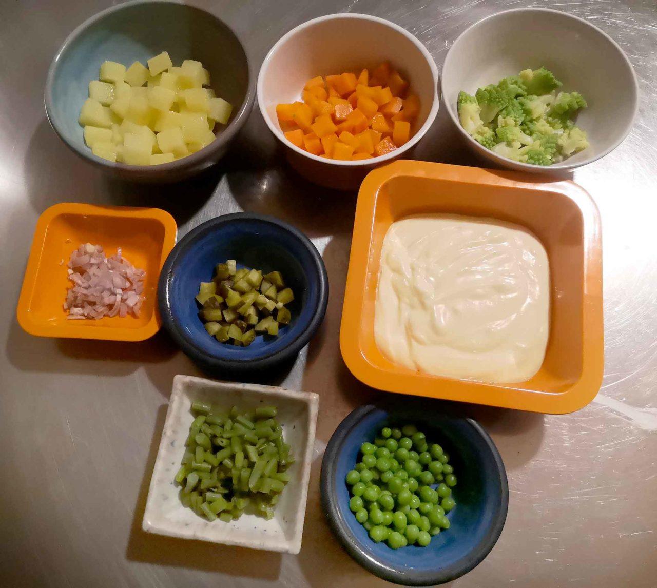 insalata russa preparazione