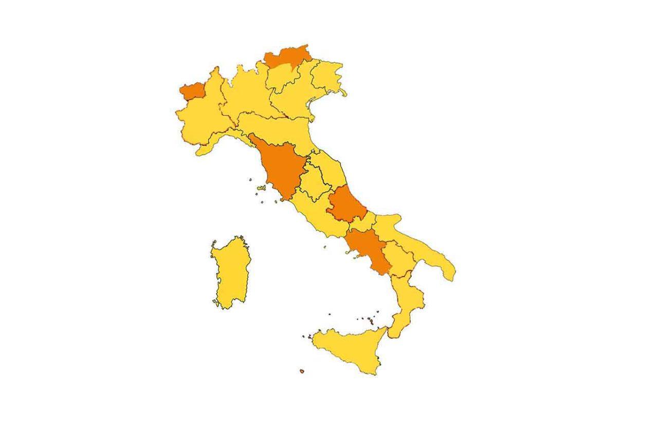 zone gialle Italia