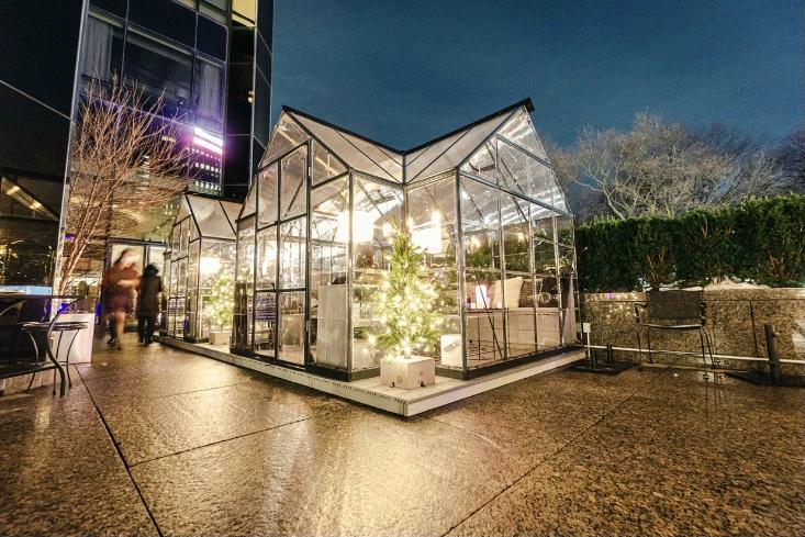 New York ristorante struttura vetro