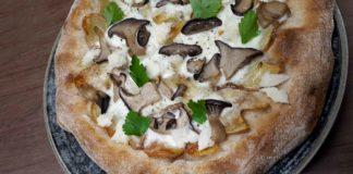 pizza tiella foggiana baccala patate funghi cardoncelli