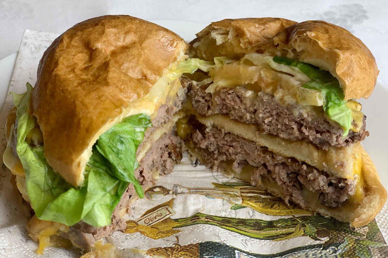 Emanuel Burger Bar Salerno hamburger doppio