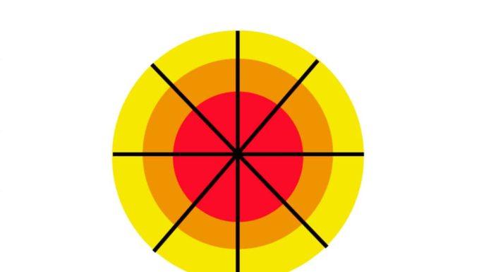 Italia a zone bersaglio zona bianca gialla arancione rossa