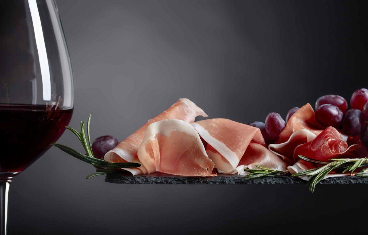 salumi e vino prosciutto crudo