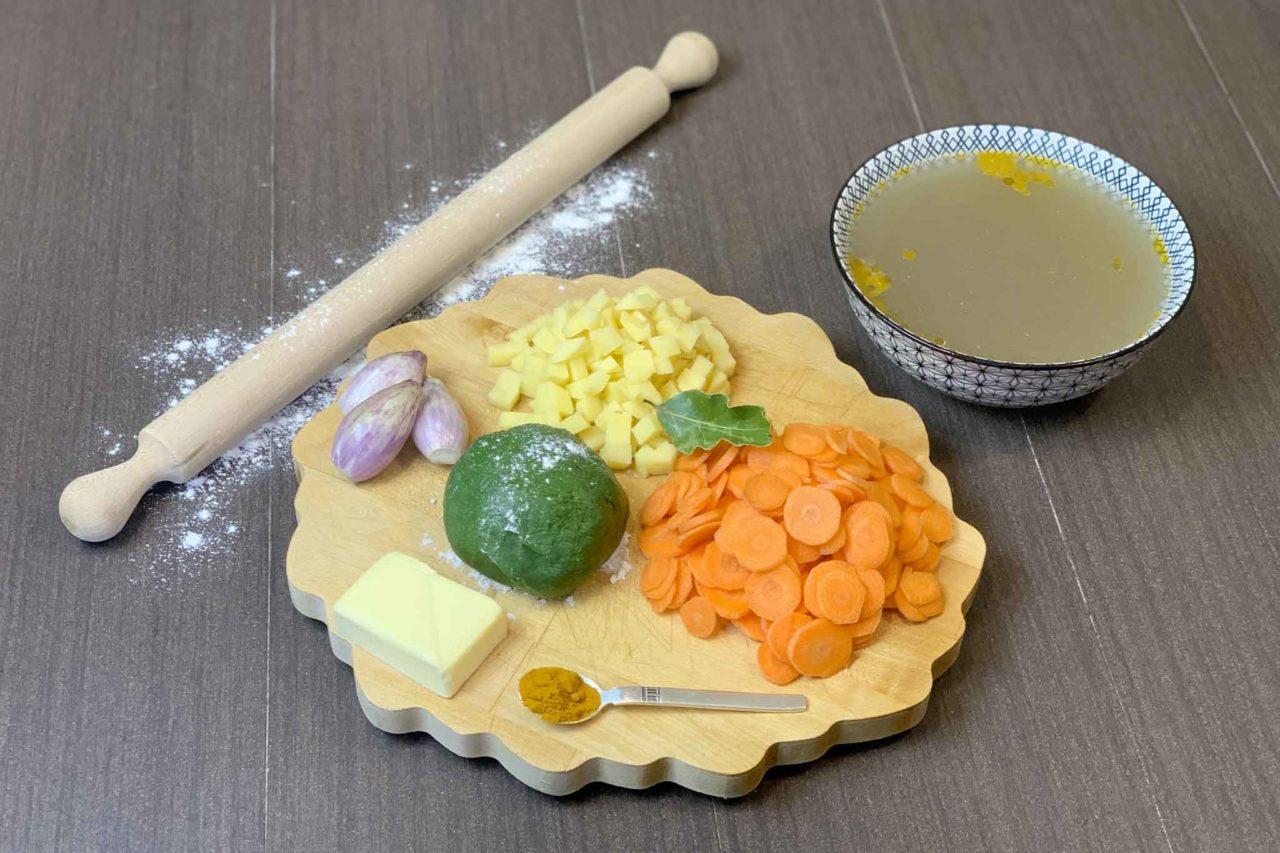 ingredienti per il minestrone di pasta