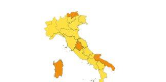 Zona gialla e arancione da lunedì