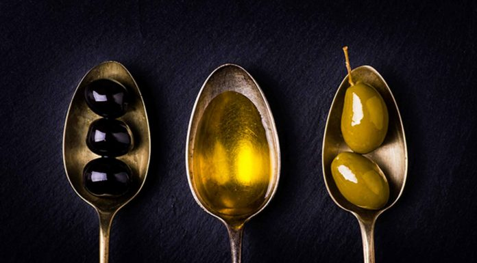 olio extravergine di oliva e olive