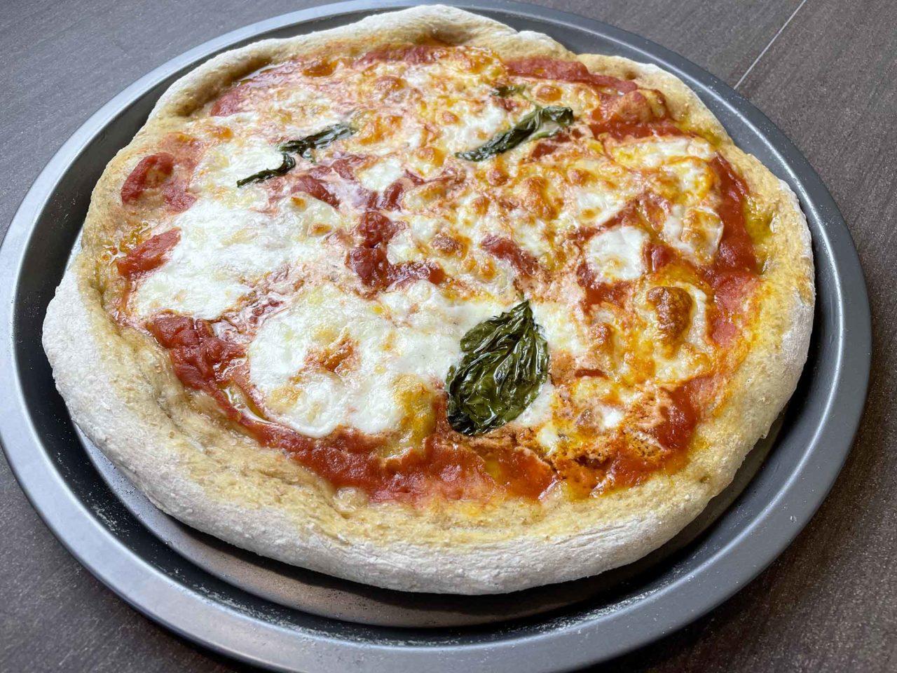 pizza integrale cotta