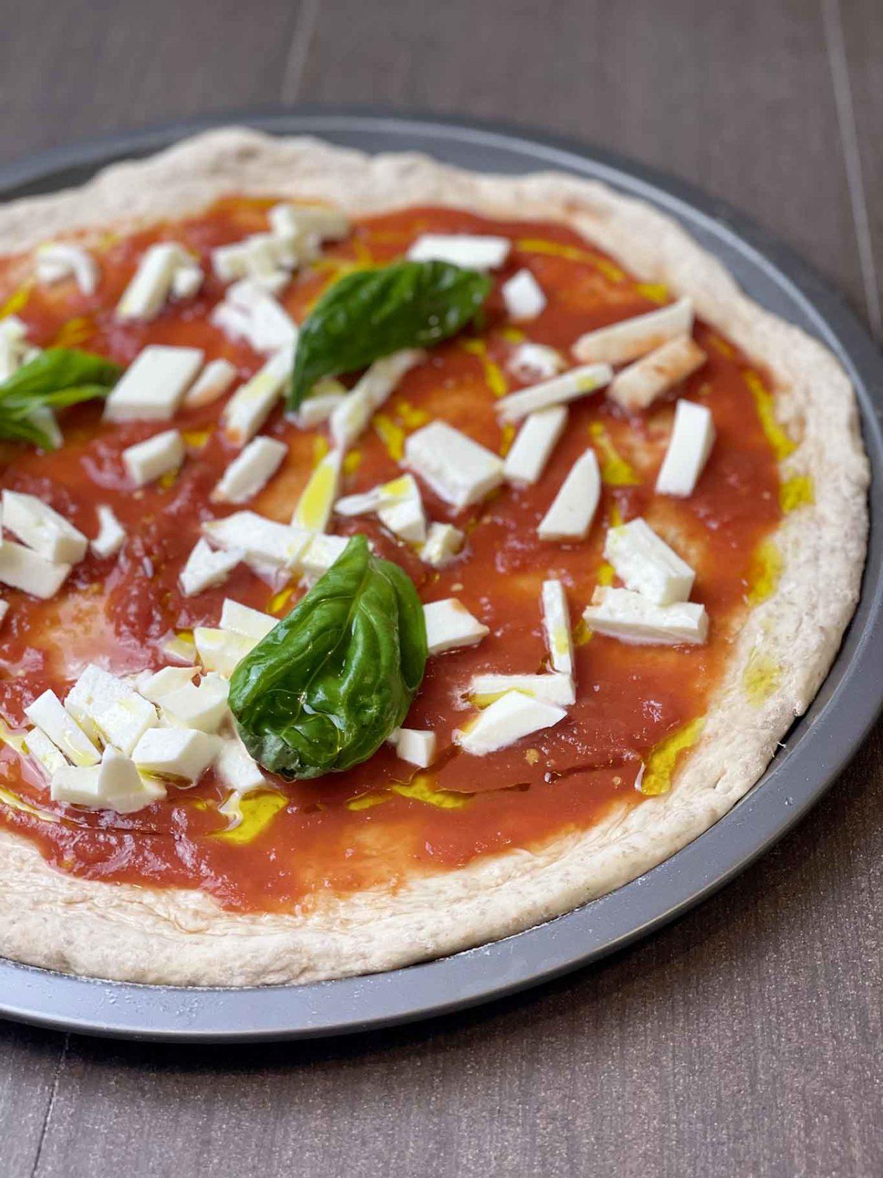 pizza integrale a casa da infornare