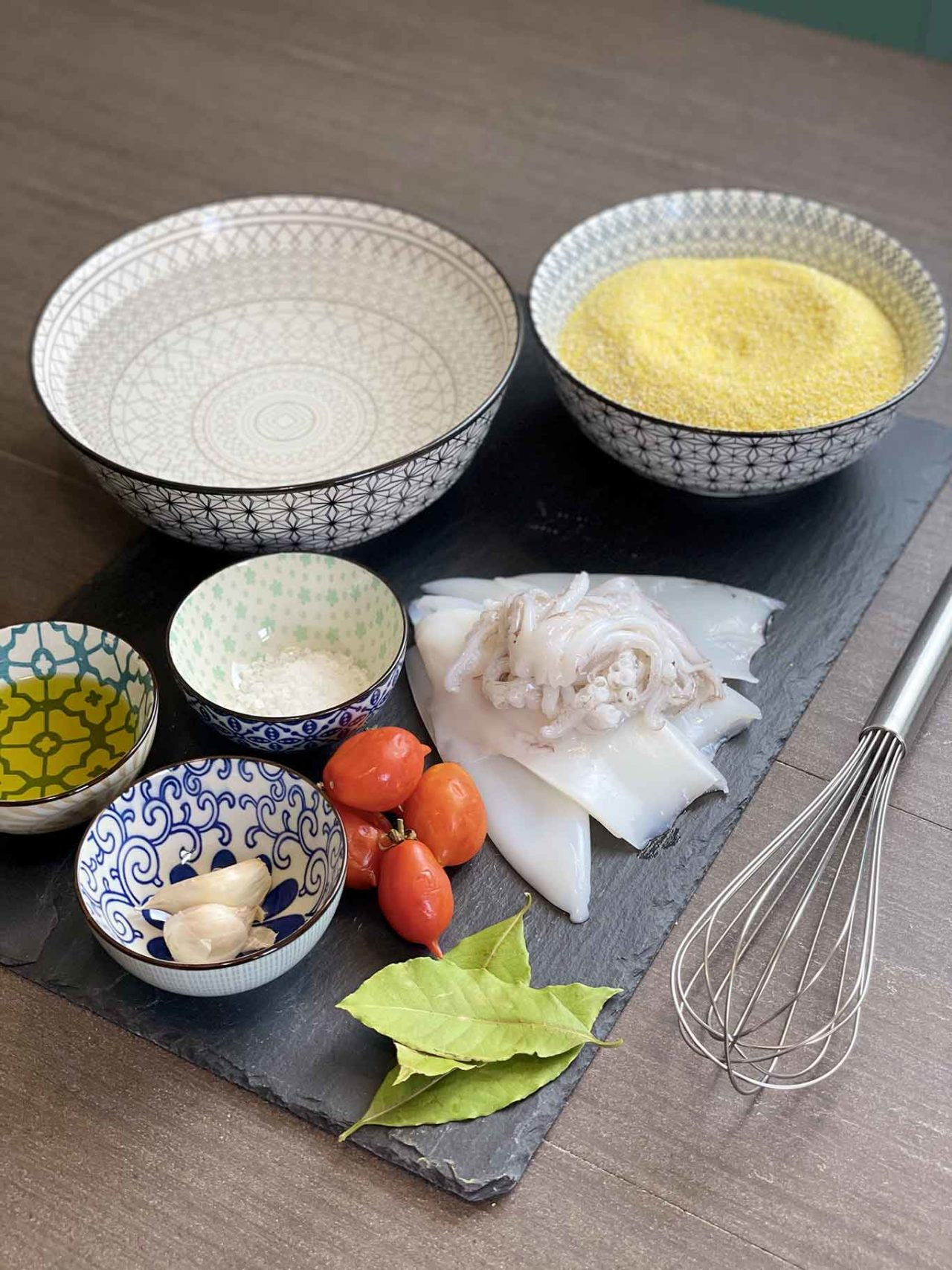 polenta bramata con i calamari ingredienti