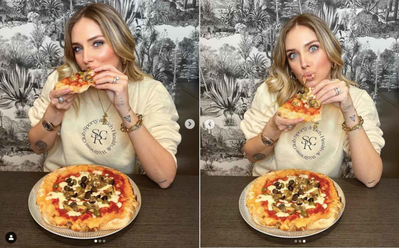 quelli della pizza adv chiara ferragni mangia