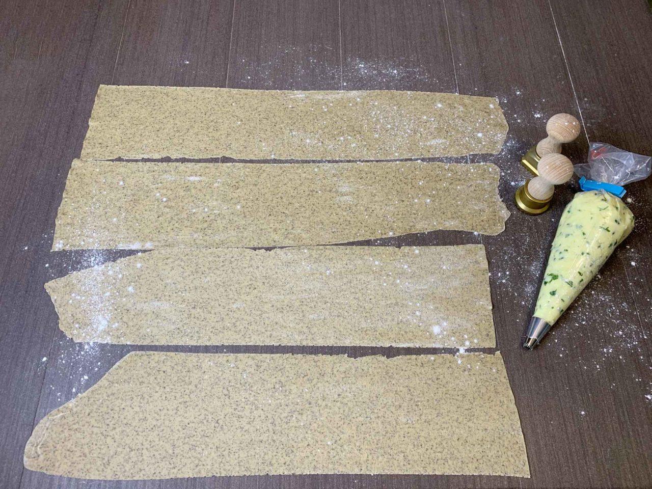 ravioli di grano saraceno al taleggio sfoglie