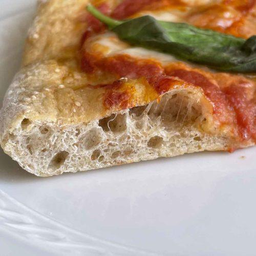 ricetta pizza margherita da fare a casa con farina integrale