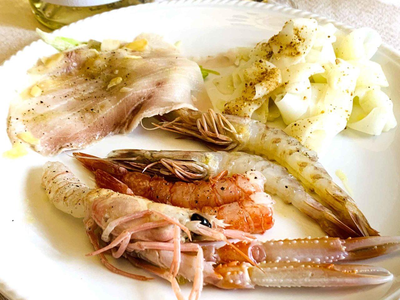ristorante Lucia Giulianova Abruzzo  crudi di pesce