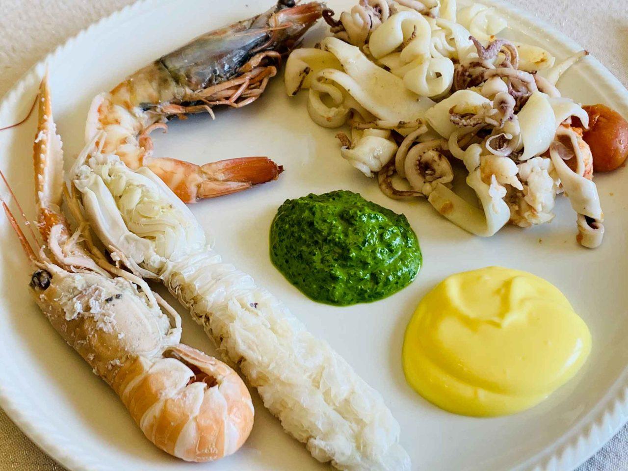 ristorante Lucia Giulianova Abruzzo  antipasti di pesce bollito