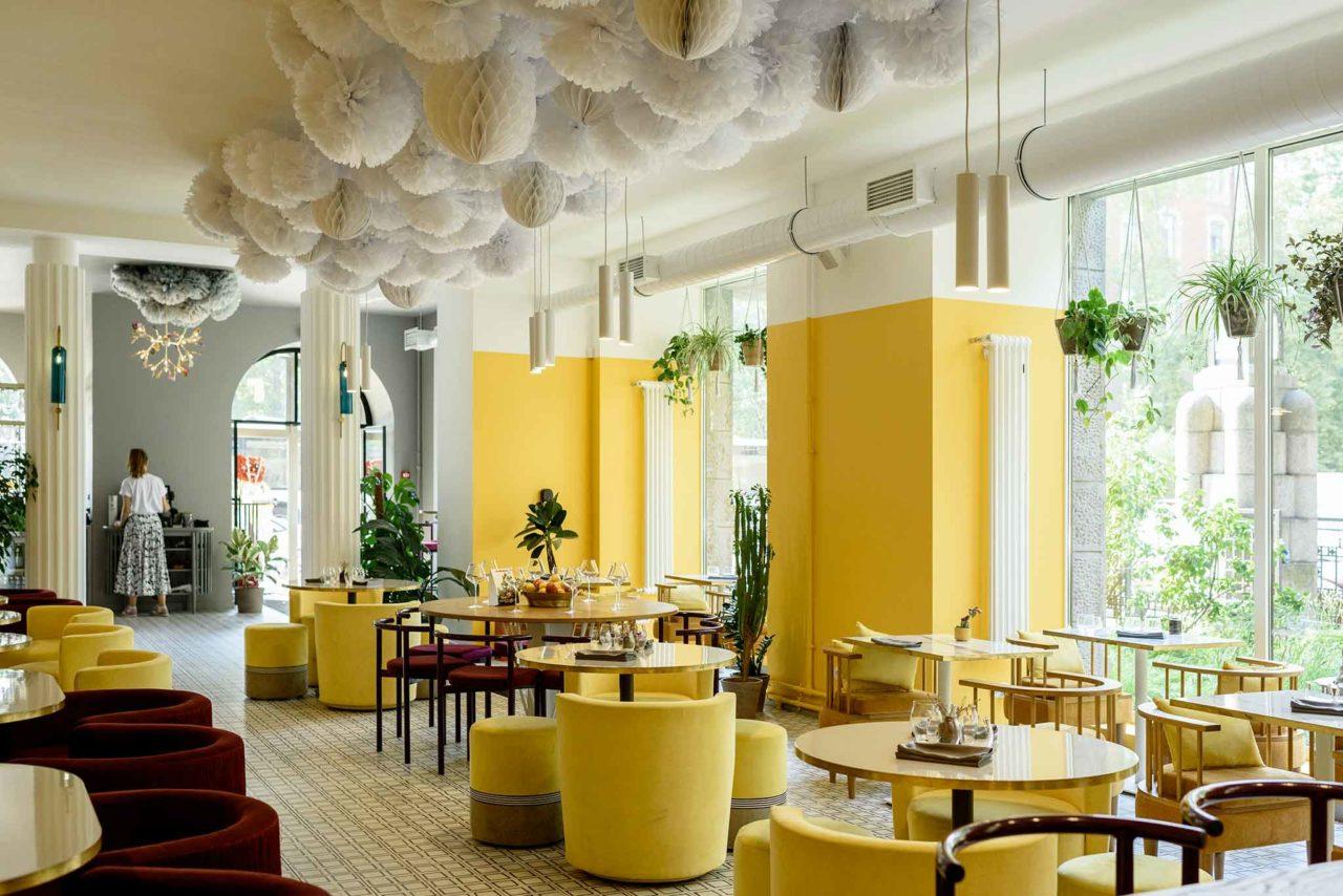 ristorante in zona gialla