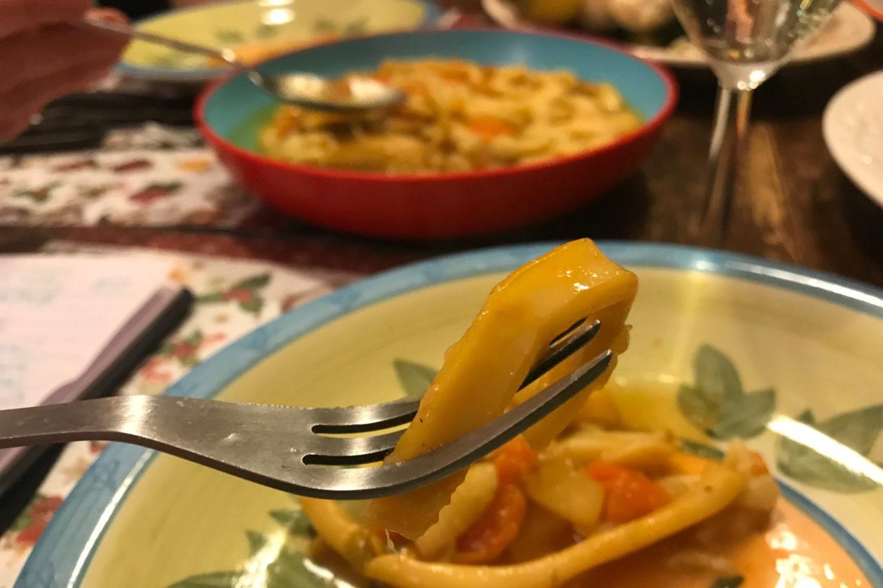 trippa di calamari Donna Lucia nel piatto