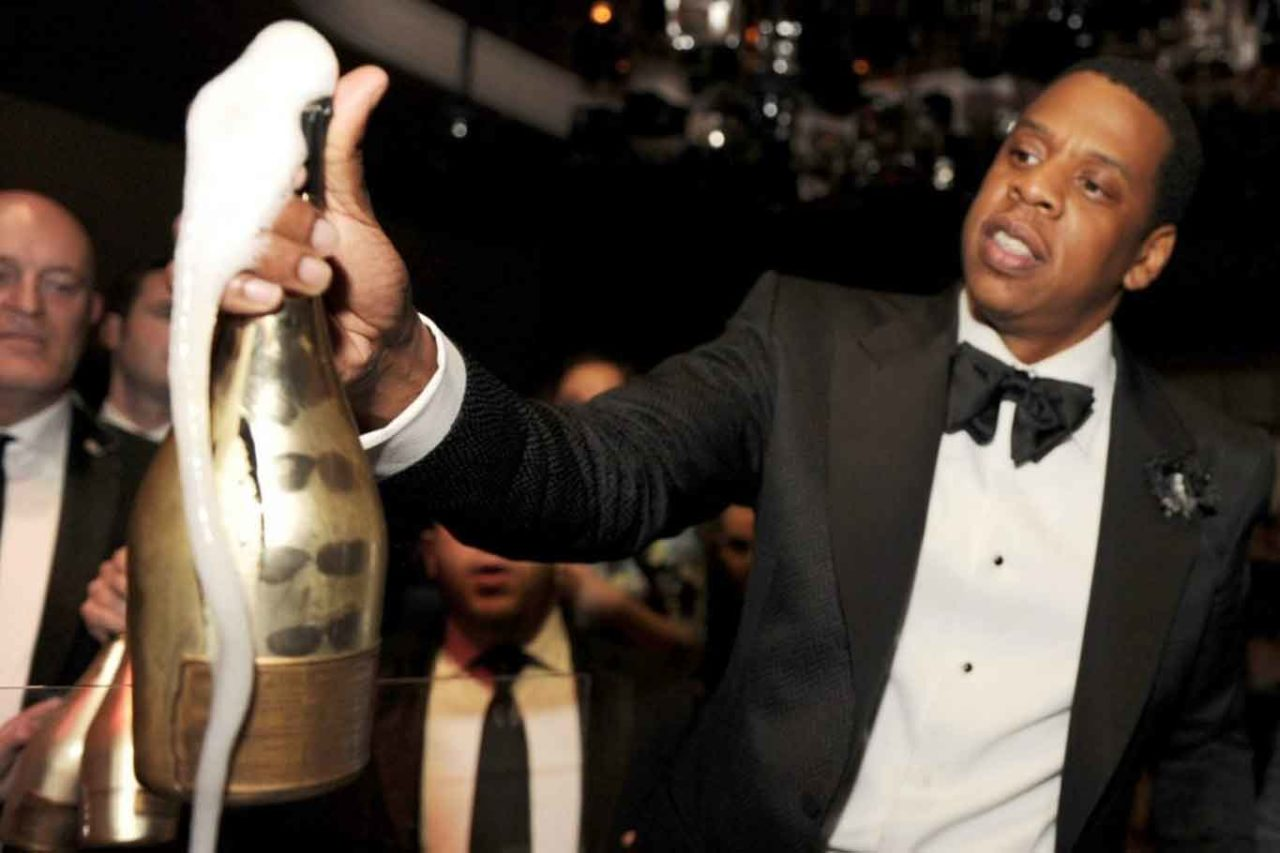 Jay Z Moët hennessy Ace of Spades champagne armand de brignac