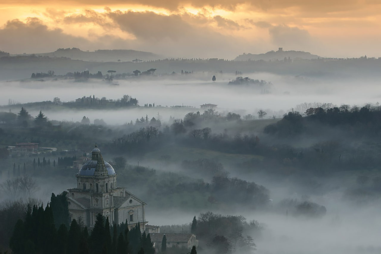 panorama fuori Montepulciano