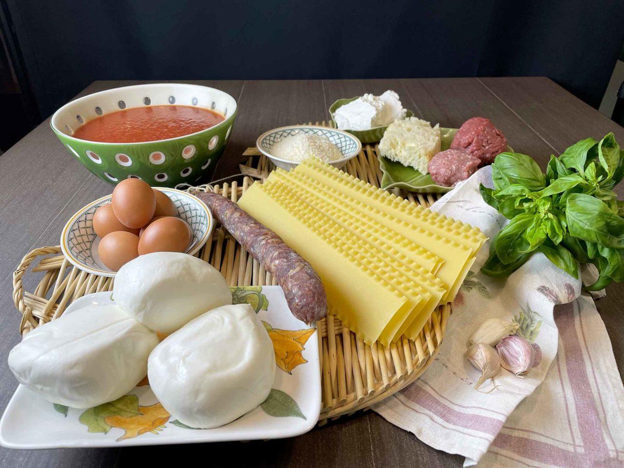 lasagna napoletana di Carnevale ingredienti