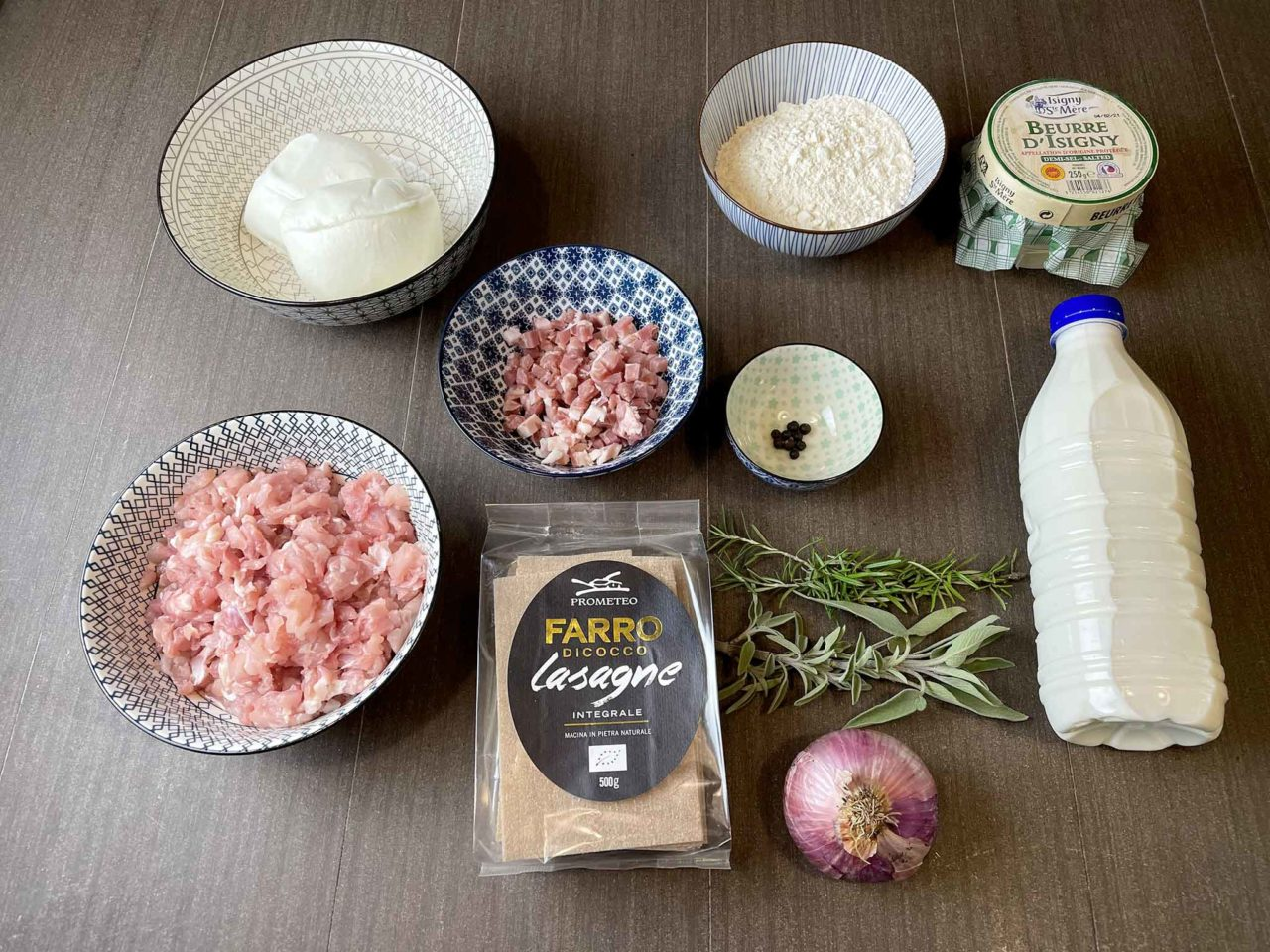 lasagne di farro con ragù di coniglio ingredienti