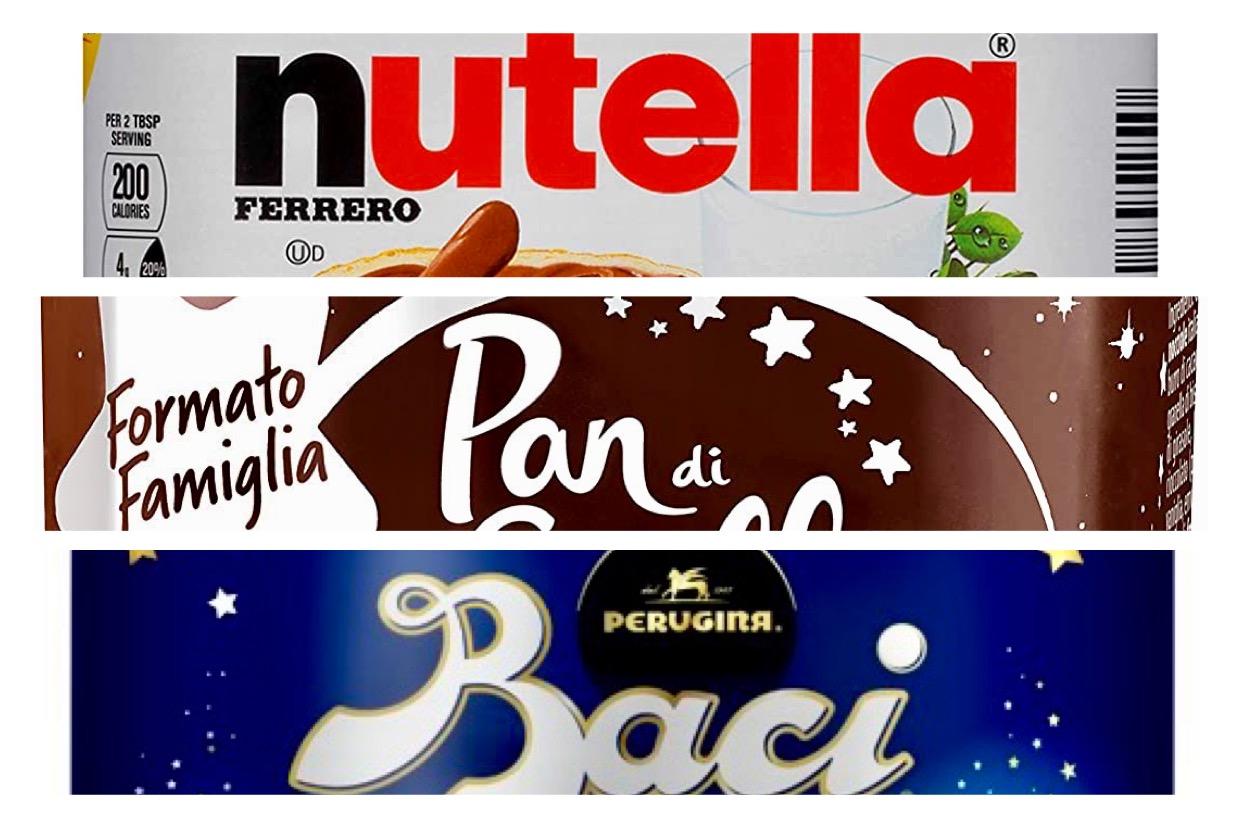 Nutella, Pan di stelle, Baci Perugina
