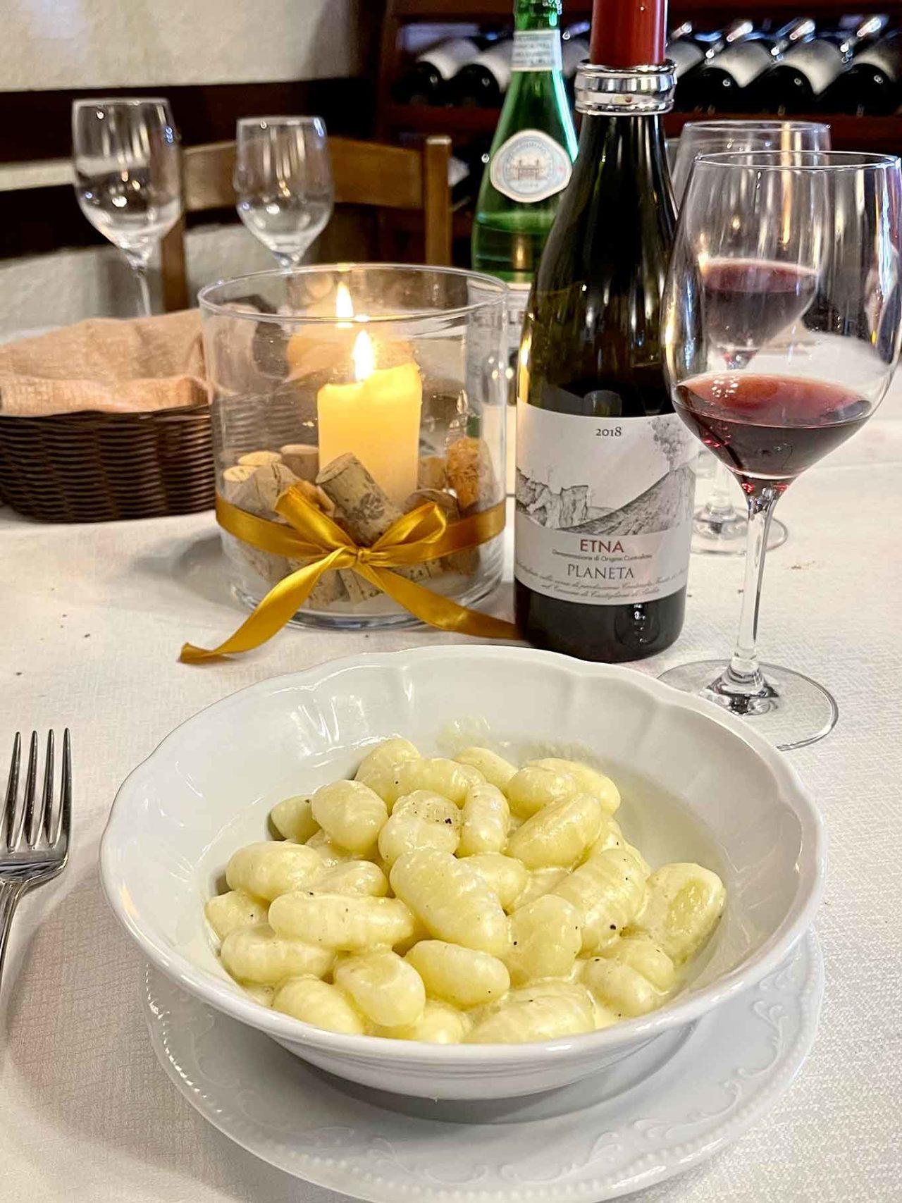 ristorante La Botte Monreale Sicilia gnocchi