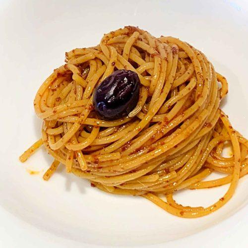 spaghetti aglio olio peperone dolce