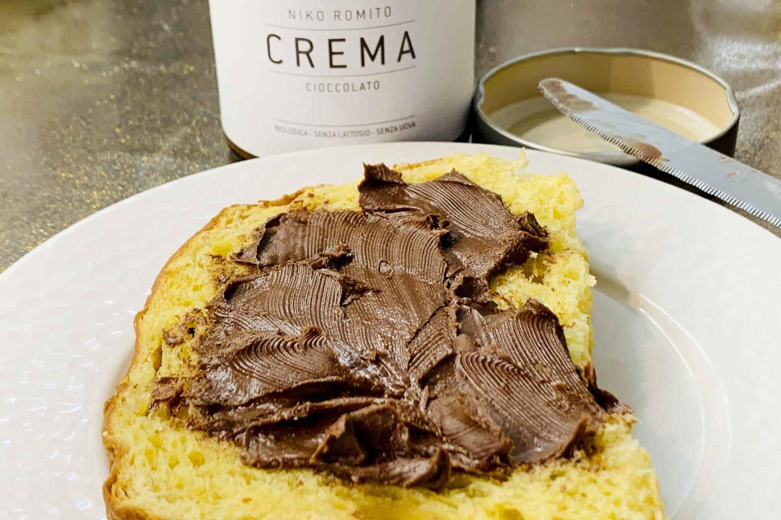 Niko Romito colazione pandolce con crema al cioccolato